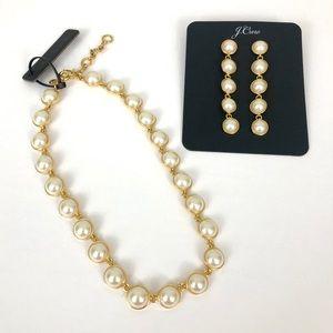 J. Crew Gumdrop Stone Drop Earrings & Necklace Set